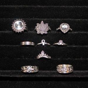 Midi rings - 9 pieces